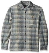 True Grit Men's Melange Solid and Plaid Blanket One Pocket Big Shirt