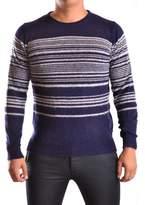 Daniele Alessandrini Men's White/blue Acrylic Sweater.