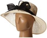San Diego Hat Company DRS1003 Straw Wide Brim Dress/Derby Hat with Oversized Bow