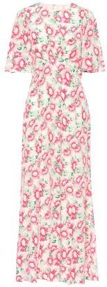 Les Rêveries Floral silk maxi dress