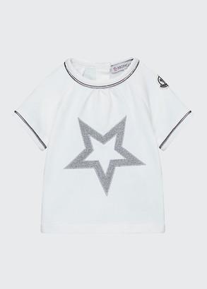 Moncler Short-Sleeve Sparkle Star T-Shirt, Size 12M-3