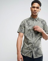 ONLY & SONS Short Sleeve Shirt in Slim Fit with All Over Print