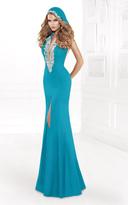 Tarik Ediz Deep V-Neckline Long Dress 92403