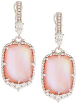 Judith Ripka Chantilly Rectangle Pink Mother-of-Pearl Drop Earrings