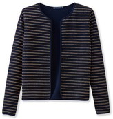 Petit Bateau Womens shiny striped cardigan