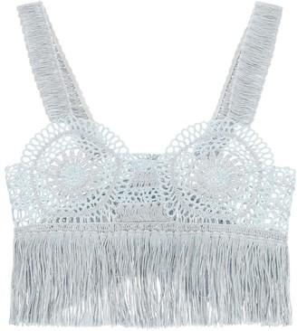 Stella McCartney Crochet Fringed Crop Top
