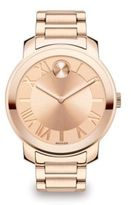 Movado Bold Rose Goldtone IP Stainless Steel Bracelet Watch