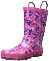 Western Chief Kids' Heart Camo Rain K Pull-On Boot