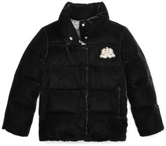 Ralph Lauren Quilted Velvet Down Jacket
