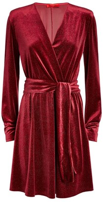 Max & Co. Glitter Velvet Mini Dress