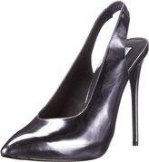 Steve Madden Nici Women US 9 Silver Slingback Heel