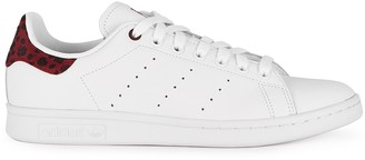 adidas Stan Smith White And Plum Leather Sneakers