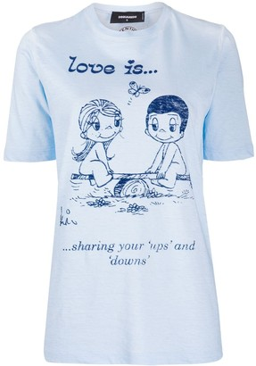 DSQUARED2 Love Is Forever-print T-shirt