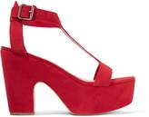 Loeffler Randall Minette suede platform sandals