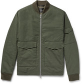 Theory Kerby Cotton-Blend Canvas Bomber Jacket