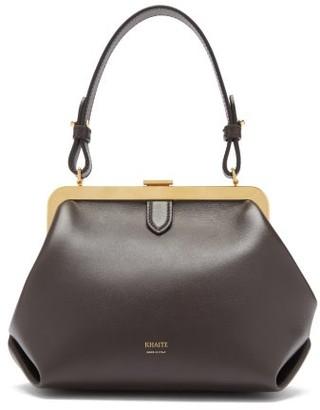 KHAITE Agnes Small Leather Top-handle Bag - Dark Brown