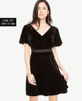 Ann Taylor Short Sleeve Velvet Dress