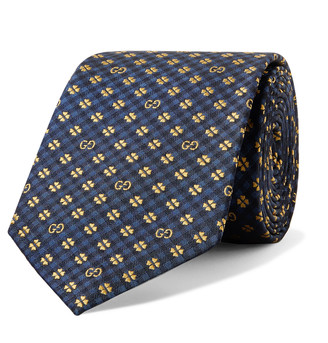 Gucci 7.5cm Logo-Jacquard Silk Tie
