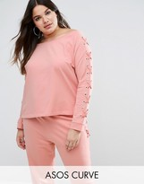 Asos LOUNGE Lace Up Sweatshirt