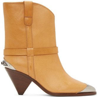 Isabel Marant Tan Limza Ankle Boots