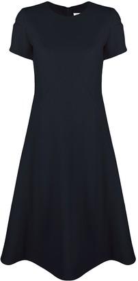 Courreges Short-Sleeve Midi Dress