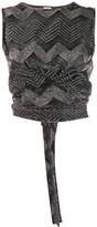 M Missoni Glitter Knit Wrap Top