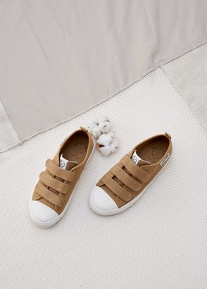 MANGO Organic cotton Velcro fastening sneakers off white - 3 - Kids