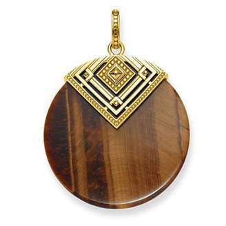 Thomas Sabo Africa Triangle Gold Plated Yellow Gold/Tiger's Eye Pendant PE749-887-2