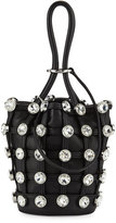 Alexander Wang Roxy Mini Studded Leather Bucket Bag, Black