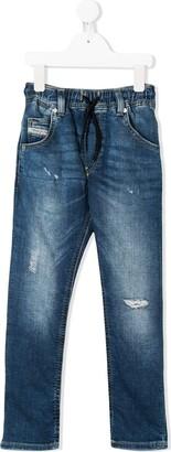 Diesel mid rise drawstring jeans