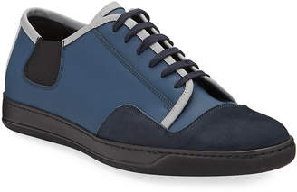 Bugatchi Bellagio Colorblock Mixed Leather Sneakers