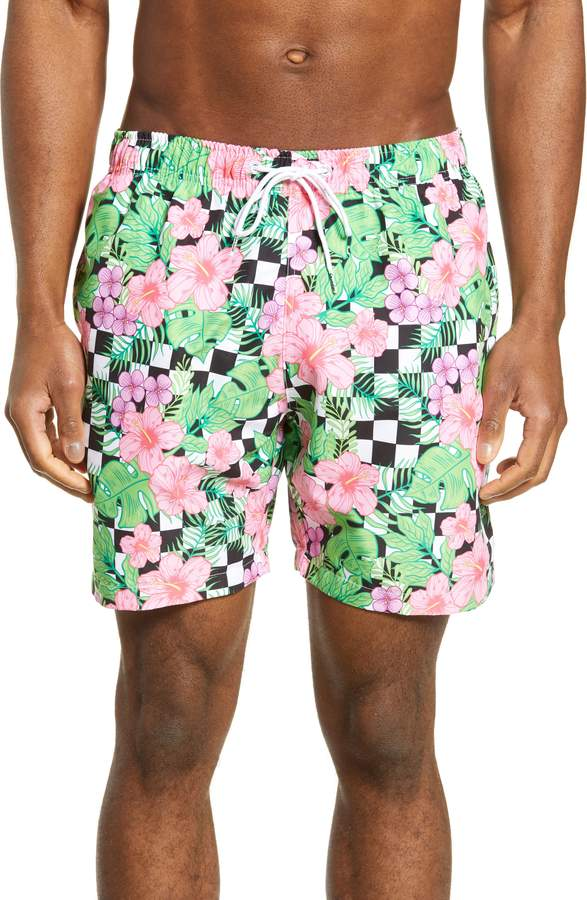 0b46a34cc93ab Floral Swim Trunks - ShopStyle