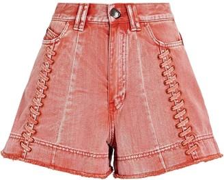 Aje Framework Lace-Up Denim Shorts