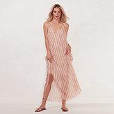 Lauren Conrad Women's Beach Shop Cold-Shoulder Maxi Dress