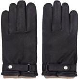 Reiss Gloucester Dents Cashmere And Leather Gloves