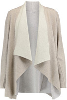 Majestic Draped Merino Wool And Cotton Cardigan