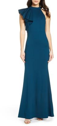 Lulus Margaux One Shoulder Maxi Dress