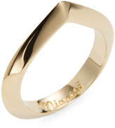 Miansai Women's Angular Ring, Gold Plated, Polished, 5