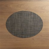Crate & Barrel Chilewich ® Mini Basketweave Dark Walnut Oval Vinyl Placemat