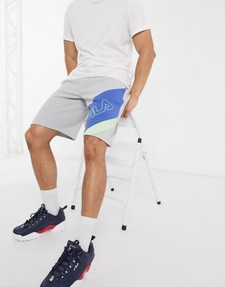 Fila Samburo sweat shorts in gray
