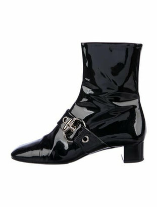Gucci Patent Leather Boots Black