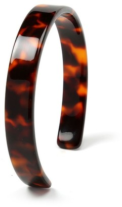 Bling Jewelry Fashion Brown Golden Acrylic Tortoise Shell Cuff Bangle Bracelet For Women