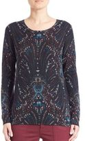 Joie Feronia Paisley Print Cashmere Sweater