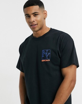 New Look oversized t-shirt with New York print in black
