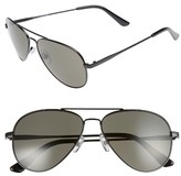 1901 Men's Davis 59Mm Aviator Sunglasses - Black/ Grey
