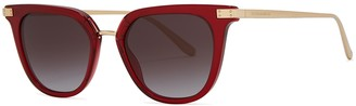 Dolce & Gabbana Red Oval-frame Sunglasses