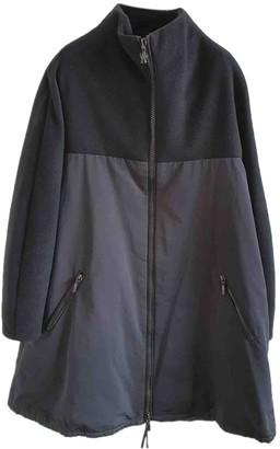 Moncler Black Wool Coat for Women