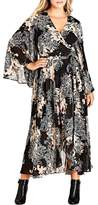 City Chic Shadow Floral Maxi Dress