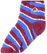 For Bare Feet Colorado Avalanche Sleep Soft Candy Striped Socks