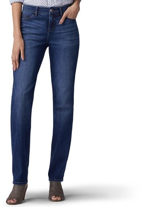 Lee Women's Flex Motion Regular Fit Straight-Leg Jeans